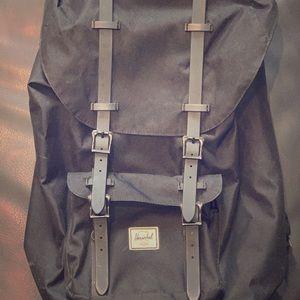 Herschel Little America Backpack in All Black